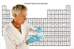 Tabella degli elementi periodica immagine stock