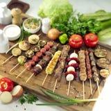 Tabella del barbecue Fotografie Stock