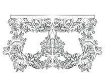 Tabella del cassettone di Rich Baroque con i cassetti illustrazione vettoriale