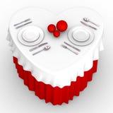 tabella del cuore 3d illustrazione vettoriale