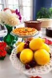 Tabella del dessert Immagini Stock
