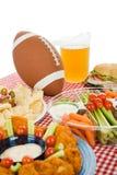 Tabella del partito di Super Bowl Fotografie Stock