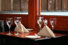 Tabella del ristorante Fotografie Stock Libere da Diritti