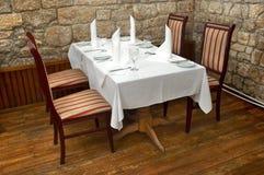 Tabella del ristorante Fotografie Stock