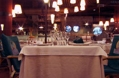 Tabella del ristorante fotografia stock libera da diritti
