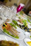 Tabella al ristorante. Fotografia Stock Libera da Diritti