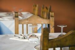 Tabella del ristorante Fotografia Stock