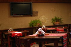 Tabella del ristorante immagini stock libere da diritti