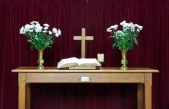 Tabella dell'altare Fotografia Stock