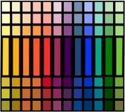 Tabella della gradazione di colore Immagine Stock