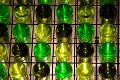 Tabella della parete della bottiglia di vino Fotografia Stock