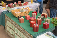 Tabella delle candele Fotografia Stock