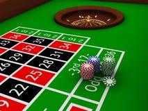 Tabella delle roulette Fotografia Stock Libera da Diritti