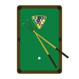 Tabella dello snooker (raggruppamento) Immagini Stock