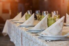 Tabella di banchetto Fotografia Stock