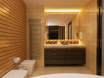 Tabella di Bathroom.Mirror.Dressing. fotografia stock libera da diritti