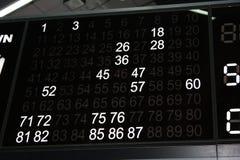 Tabella di Bingo Fotografia Stock