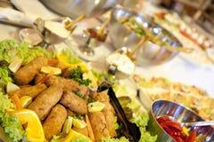Tabella di buffet Fotografia Stock