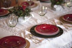 Tabella di cena di festa Fotografie Stock