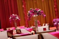 Tabella di cerimonia nuziale Fotografia Stock