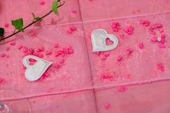Tabella di cerimonia nuziale Fotografie Stock Libere da Diritti