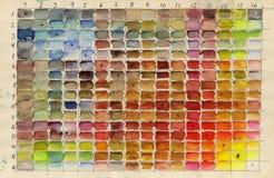 Tabella di colore Fotografie Stock Libere da Diritti