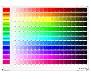 Tabella di colore di RGB Fotografie Stock Libere da Diritti