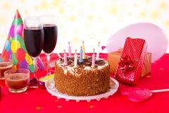 Tabella di compleanno Fotografia Stock