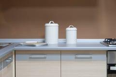 Tabella di cucina moderna Fotografie Stock Libere da Diritti