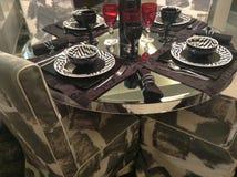 Tabella di Dinning Fotografia Stock