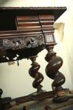 Tabella di legno antica Fotografia Stock