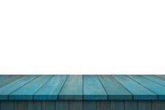 Tabella di legno dello scaffale isolata Fotografie Stock