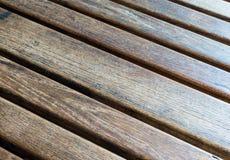 Tabella di legno diagonale (1) Immagini Stock Libere da Diritti