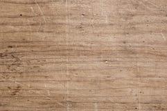 Tabella di legno graffiata Fotografia Stock