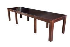 Tabella di legno isolata Immagine Stock