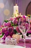 Tabella di nozze Immagine Stock Libera da Diritti