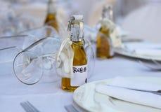 Tabella di nozze Immagine Stock
