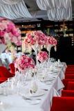 Tabella di nozze Fotografia Stock