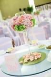 Tabella di nozze Fotografie Stock
