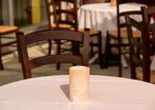 Tabella di patio del ristorante Immagine Stock