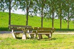 Tabella di picnic Immagini Stock Libere da Diritti