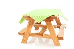 Tabella di picnic vuota Immagine Stock