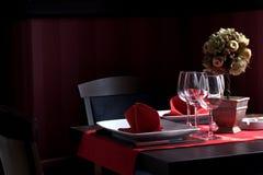 Tabella di pranzo del ristorante Fotografie Stock