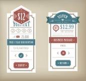 Tabella di prezzi Immagine Stock