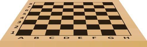 Tabella di scacchi Vista di prospettiva Fotografie Stock