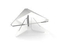 Tabella di vetro triangolare illustrazione di stock
