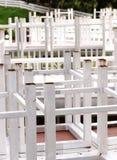 Tabella e sedia Immagini Stock