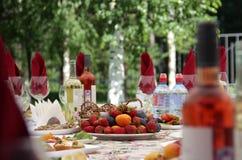 Tabella festiva fotografia stock