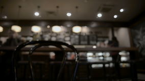 Tabella a fondo vago ristorante stock footage