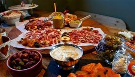 Tabella gastronomica festiva Fotografia Stock